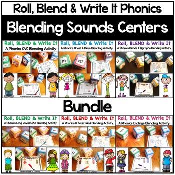 Roll, Blend & Write It:  A Blending Sounds Center Bundle