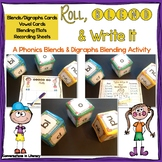 Roll, Blend & Write It:  A Digraphs & Blends Blending Center
