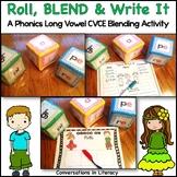 Long Vowel Activities Roll, Blend & Write It