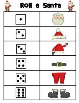 Roll & Build Santa Claus Freebie