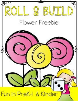 Roll & Build a Flower Spring Freebie