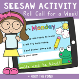 Roll Call for Seesaw - A Week of Daily Check-ins for Dista