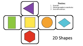 Roll & Color 2D Shapes