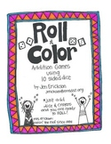 Roll & Color:  Addition Games Using 10 Sided Dice