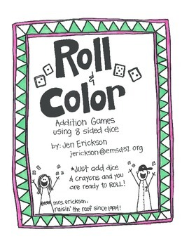 Roll & Color:  Addition Games Using 8 Sided Dice