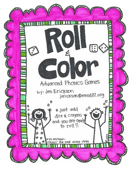 Roll & Color:  Advanced Phonics Games