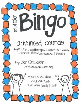 Roll & Color BINGO:  Advanced Sounds