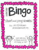 Roll & Color BINGO:  Short and Long Vowels