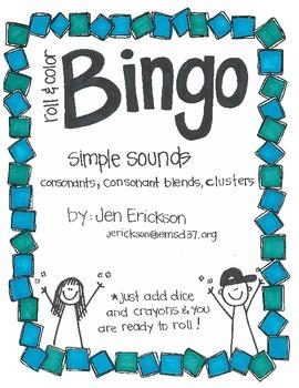 Roll & Color BINGO: Simple Sounds