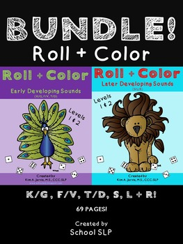 Roll & Color BUNDLE: Early & Later Developing Speech Sounds