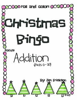 Roll & Color Christmas Bingo: Addition