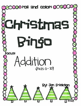 Roll & Color Christmas Bingo: Addition