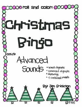 Roll & Color Christmas Bingo:  Advanced Sounds