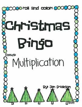 Roll & Color Christmas Bingo:  Multiplication
