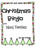 Roll & Color Christmas Bingo:  Word Families