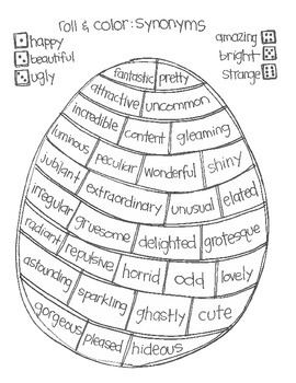 Roll & Color EASTER STYLE: Language Arts
