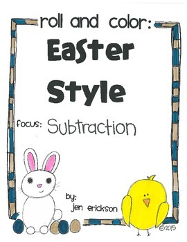 Roll & Color EASTER STYLE:  Subtraction