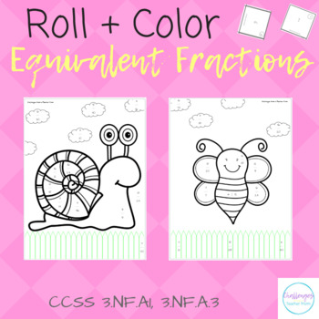 Roll + Color: Equivalent Fractions | Elementary Math Practice