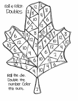 Roll & Color FALL AND THANKSGIVING STYLE:  Doubles and Doubles Plus