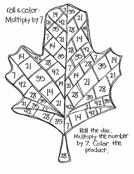 Roll & Color FALL AND THANKSGIVING STYLE:  Multiplication