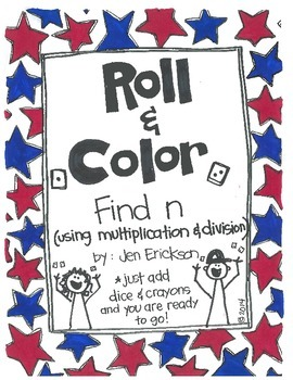 Roll & Color:  Find n (using multiplication and division)