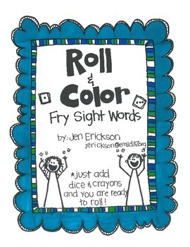 Roll & Color:  Fry Sight Words