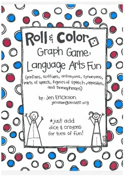 Roll & Color-  Graph Games:  Language Arts Fun