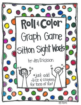 Roll & Color-  Graph Games:  Sitton Sight Words