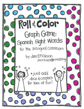 Roll & Color Graph Games:  Spanish Sight Words