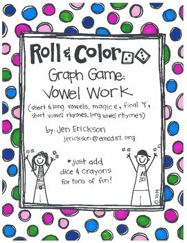 Roll & Color-  Graph Games:  Vowel Work