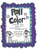 Roll & Color:  Language Arts Games (set 1)