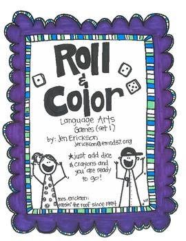 Roll & Color:  Language Arts Games (set 1)