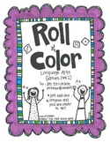 Roll & Color:  Language Arts Games (set 2)