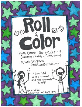 Roll & Color:  Math Games for Grades 3-5