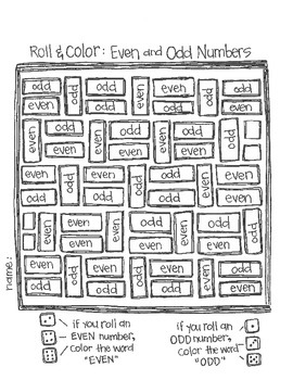 Roll & Color:  Math Games for Grades k-2