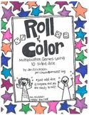 Roll & Color:  Multiplication Games Using 10 Sided Dice