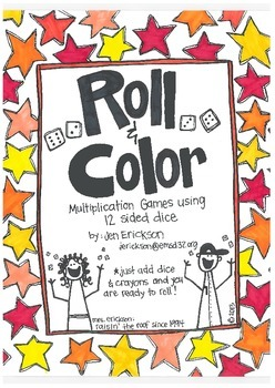 Roll & Color:  Multiplication Games Using 12 Sided Dice