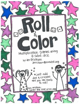 Roll & Color:  Multiplication Games Using 6 Sided Dice