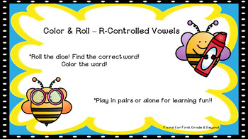 Roll & Color - R-Controlled Vowels (er, ir, ur, ar)