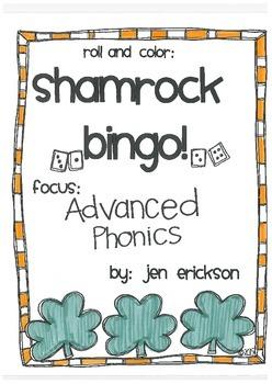 Roll & Color Shamrock Bingo! Advanced Phonics