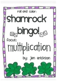 Roll & Color Shamrock Bingo:  Multiplication