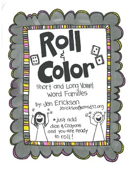 Roll & Color:  Short and Long Vowel Word Families