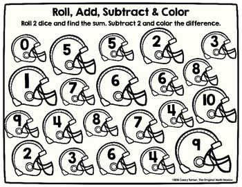 Super Bowl Roll & Color: Multiply, Add/Subtract