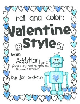 Roll & Color VALENTINE STYLE: Addition part 2