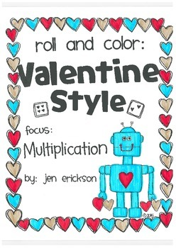 Roll & Color VALENTINE STYLE:  Multiplication