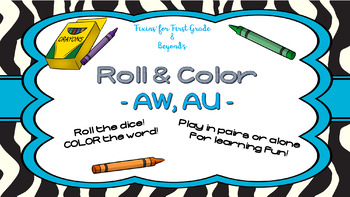 Roll & Color - Vowel pattern AW and AU