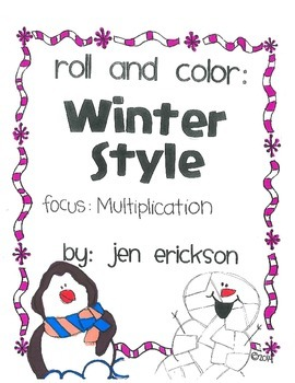 Roll & Color WINTER STYLE:  Multiplication
