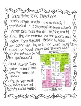Roll & Color WINTER STYLE:  Phonics Fun