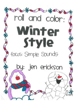 Roll & Color WINTER STYLE:  Simple Sounds