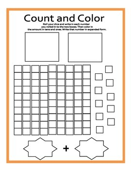 Roll, Color, and Count Base 10 Review
